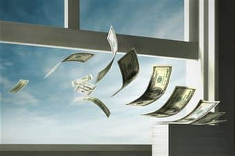 money-out-the-window