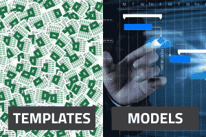 project budget template vs. model