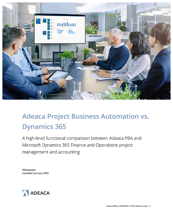 Whitepaper - Adeaca PBA vs Dynamics 365