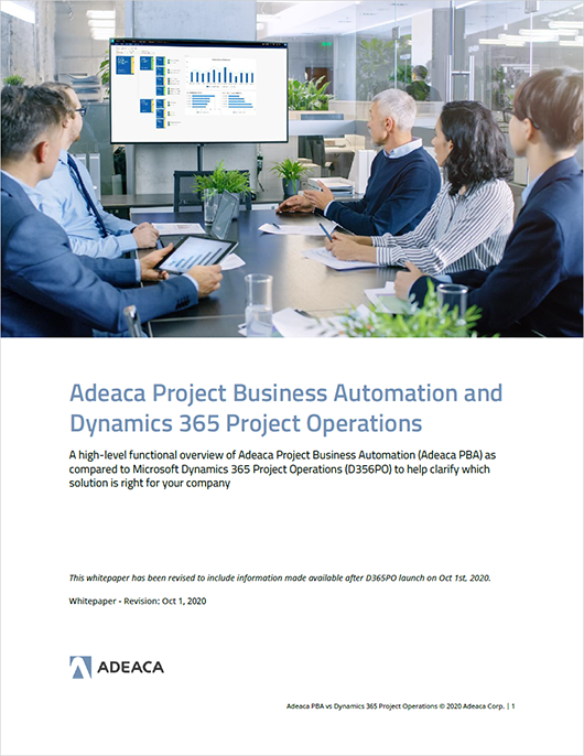 Microsoft Dynamics 365 Project Operations Whitepaper